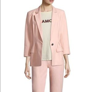 $348 Joie Pink Cotton Blazer 4